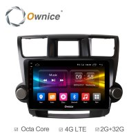 Штатная магнитола Toyota Highlander 2007-2013, Kluger 2008-2014 Roximo (Ownice C500+) S1616P Android 6.0