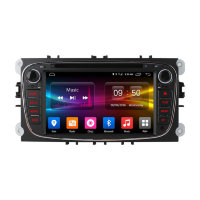 Штатная магнитола Ford Focus II, Mondeo, S-MAX, Galaxy, Tourneo/Transit Connect Carmedia OL-7202-8-MTK Android 6.0 черный