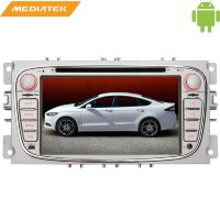 Штатная магнитола Ford Focus 2008+, C-Max 2008+, S-Max 2008+, Galaxy 2007+, Mondeo 2007+ овал LeTrun 1412 KD Silver Android 6.0.1 7 дюймов 4G LTE 2GB