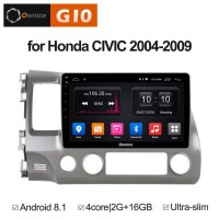 Штатная магнитола Honda Civic 8 Sedan / Coupe 2006-2011 FD Roximo Ownice G10 S1647E Android 8.1